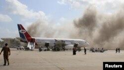 Çarşamba günü Aden havaalanına düzenlenen saldırıda 22 kişi hayatını kaybetmişti.