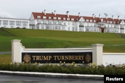 Hotel di resor golf Trump Turnberry di Turnberry, Skotlandia.