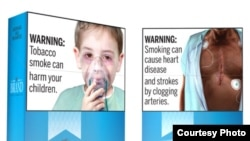 Smoking may harm children and cause heart disease. New cigarette warnings proposed by U.S. Food and Drug Adminsitration contain graphic images, 2019. (Photo Courtesy of FDA)