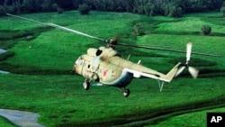 Un helicóptero Mi-8 de fabricación rusa como el derribado en la provincia de Idlib, Siria, cuando regresaba de Aleppo.