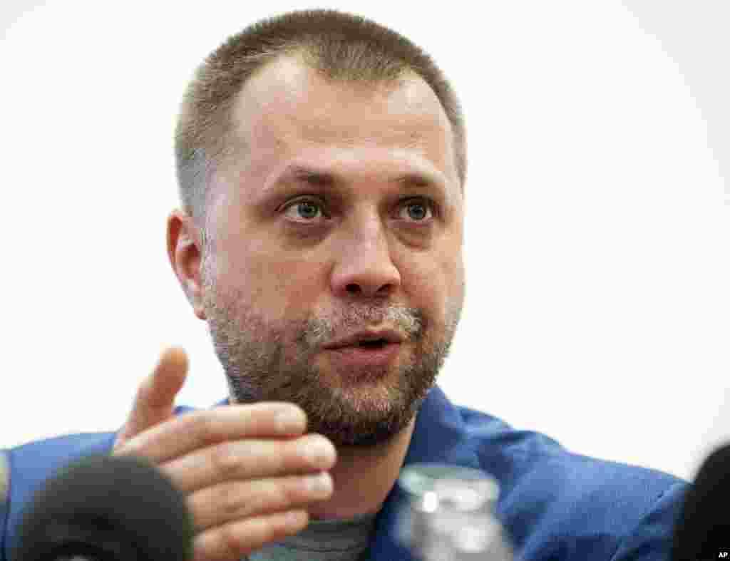 Aleksandr Borodai, Prime Minister of the self-proclaimed Donetsk People's Republic speaks at a news conference in Donetsk, eastern Ukraine, July 18, 2014.