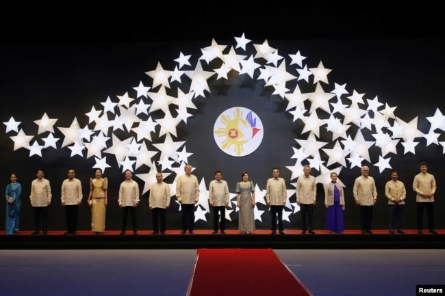 U.S. President Donald Trump attends the Association of Southeast Asian Nations (ASEAN) Summit gala dinner in Manila, Nov. 12, 2017.