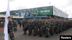 中国军方派往非洲的医务人员(2014年11月15日)