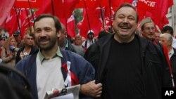 Илья Пономарев и Геннадий Гудков