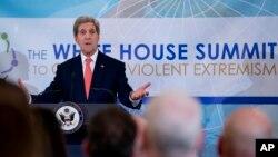 星期四美國主辦反恐峰會,美國國務卿克里在會上首先發言。