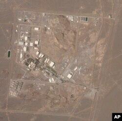 Foto satelit dari Planet Labs Inc. menunjukkan fasilitas pengayaan uranium Iran, Natanz, 7 April 2021. (Foto: Planet Labs Inc. via AP)