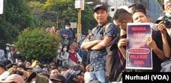 Aksi ini diklaim telah diikuti oleh lebih dari 20 ribu mahasiswa. (Foto:Terkini.com/ Nurhadi)