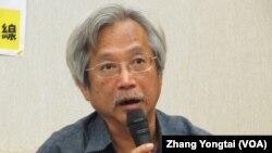 台湾金融业工会联合总会副理事长 赖万枝(美国之音 张永泰拍摄)