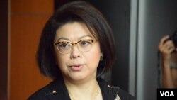香港大律师公会主席谭允芝。(美国之音汤惠芸摄)