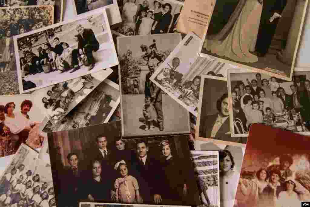 Foto-foto keluarga Patil Tchilinguirian berasal dari tahun 1920an, termasuk tahun-tahun pertama mereka di Lebanon. (VOA/John Owens)
