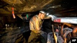 Добыча угля в шахтах города Уэлч в штате Западная Вирджиния, США