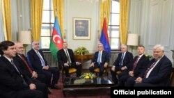 Azərbaycan və Ermənistan prezidüentləri