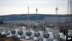 Газовые турбины, обеспечивающие электричеством район Крыма