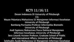 Dosen Indonesia di Universitas Pittsburgh - Liputan Feature VOA November 2011