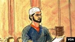 Persidangan Faisal Shahzad, pelaku bom di Times Square yang gagal, di pengadilan New York.