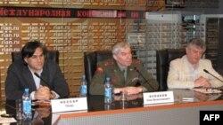 Участники пресс-конференции в Москве