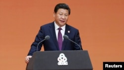 Chinese President Xi Jinping gives a speech during a gala dinner ahead of the fourth Conference on Interaction and Confidence Building Measures in Asia (CICA) summit, in Shanghai, May 20, 2014.