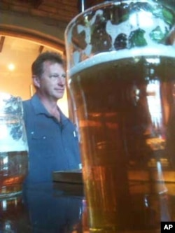 Van Der Merwe makes beer- such as Old Bull Bitter ale-from British hops