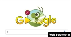 One of Google's most-successful doodles this year was crickets playing cricket against snails.