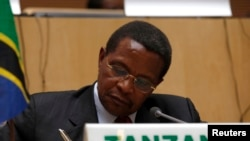Tanzania's President Jakaya Kikwete is seen in a Feburary 24, 2013, file photo.