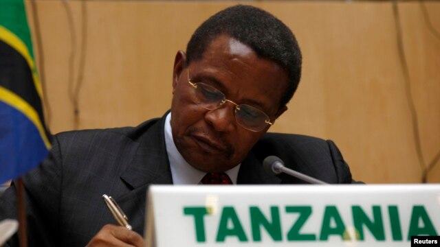FILE - Tanzania's President Jakaya Kikwete, Feb. 24, 2013.