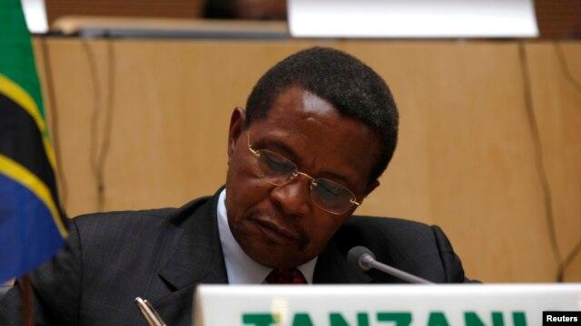 Tanzania's President Jakaya Kikwete is seen in a Feburary 24, 2013, file photo. AP