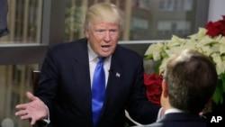 Presiden AS Donald Trump dalam wawancara dengan Fox News (foto: dok).
