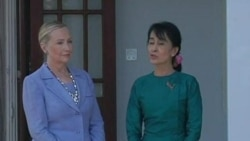 Clinton Meets with Aung San Suu Kyi