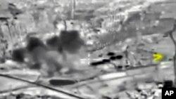 叙利亚的炸弹爆炸