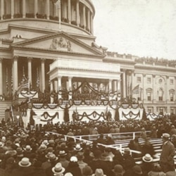 President Roosevelt's inauguration ceremony in Washington