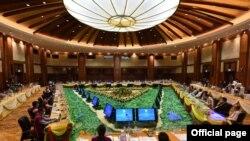 ျပည္ေထာင္စုၿငိမ္းခ်မ္းေရးညီလာခံ - ၂၁ရာစုပင္လံု စတုတၳအစည္းအေ၀းရ့ဲ ဒုတိယေန႔ျမင္ကြင္း။ (ဓာတ္ပံု - Union Peace Conference - 21st Century Panglong - ၾသဂုတ္ ၂၀၊ ၂၀၂၀)