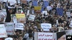 伊朗支持政府的示威者