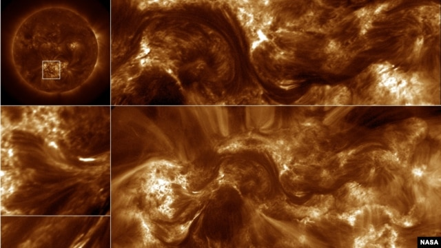 NASA's High Resolution Coronal Imager, or Hi-C, telescope captured the highest-resolution images ever taken of the sun's million-degree atmosphere, the corona.