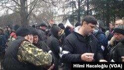 Simferopol'da bağımsızlık yanlısı grup