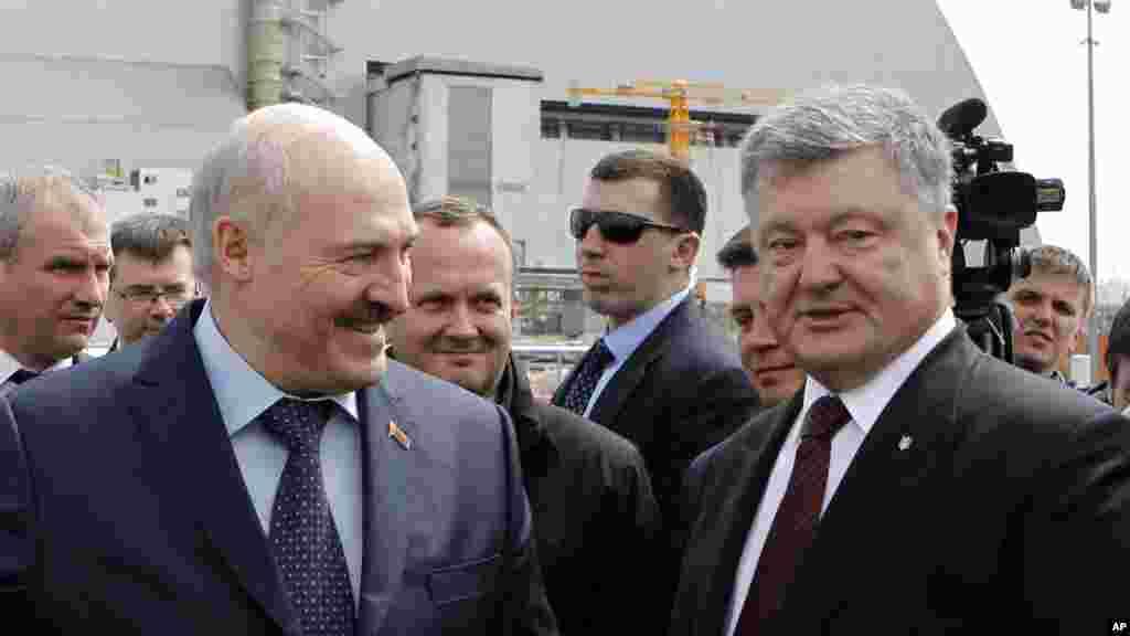 Ukraina va Belarus rahbarlari Petro Poroshenko va Aleksandr Lukashenko