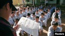 Học viên trong một trung tâm cai nghiện ở Ba Vì (Ảnh tư liệu minh họa.)