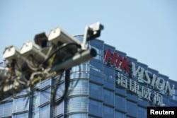 總部設在杭州的海康威視是世界最大的視頻監控設備製造商。