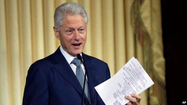 FILE - Former President Bill Clinton