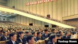 2007년 10월 26일 평양 4.25문화회관에서 열린 전국당세포비서대회. (자료사진)