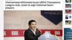 Đài Fox Sports Asia loan tin ông Nguyễn Hoài Nam sắp mua cổ phần CLB FK Sarajevo của Bosnia.
