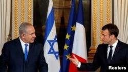 اسرائیلی وزیرِ اعظم نے اتوار کو فرانس کے صدر سے ملاقات کی۔
