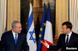 Emmanuel Makron və Benyamin Netanyahu