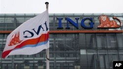Bank Sentral ING di Amsterdam, Belanda (Foto: dok). Moody's menurunkan peringkat kredit kelayakan lima Bank Belanda.