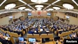 러시아 하원 회의 모습.