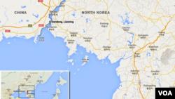 فروش مواد غذایی دریایی در دو سوی رودخانه ای که کره شمالی را از چین جدا میکند، کاهش یافته است.