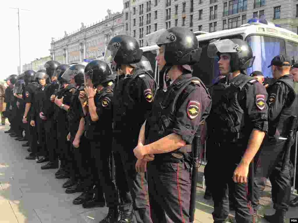 На Пушкинской площади в Москве 9 сентября прошла акция протеста против повышения пенсионного возраста