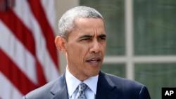 Predsednik Obama ispred Bele kuće govori o nuklearnom sporazumu sa Iranom, 2. aprila, 2015.