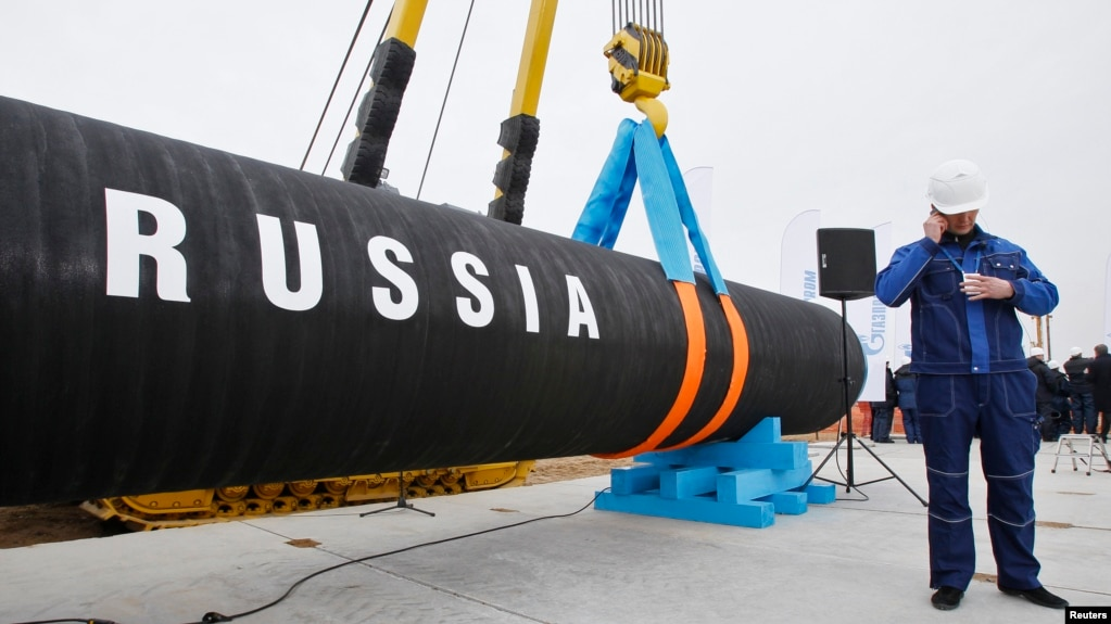 US Diplomat: Russia Gas Pipeline to Boost Grip on Ukraine, Europe