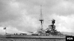 Claude Stanley Choules viajaba en este barco de guerra en 1918 desde donde observó el rendimiento de las tropas alemanas.