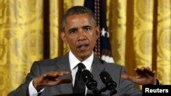 Tổng thống Obama nói 'Chúng ta là một nước của người di dân. Đó là một nguồn của sức mạnh và là điều mà chúng ta có thể cảm thấy hãnh diện.' (Ảnh tư liệu)